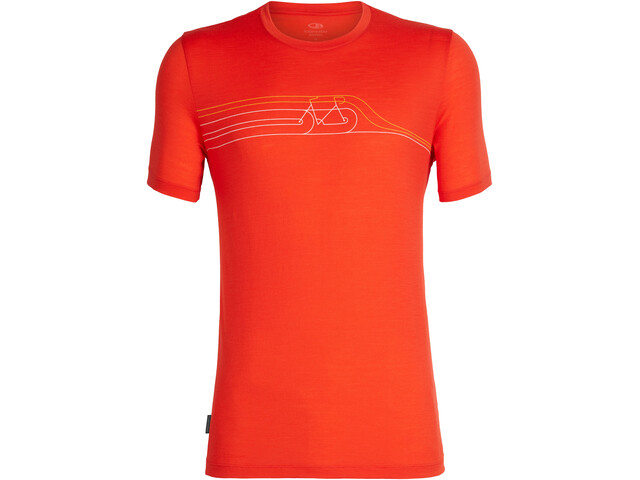 Icebreaker Tech Lite Cadence Pulse SS Crewe Top Men, chili red